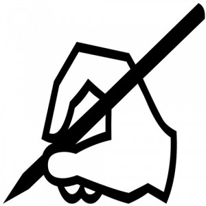 writing-hand-silhouette