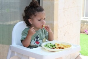 Healthy Food Little Kids Children Child Eating